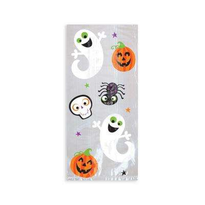 9 in. x 4 in. x 2.25 in. Halloween Cello Bag (20-Count, 7-Pack)