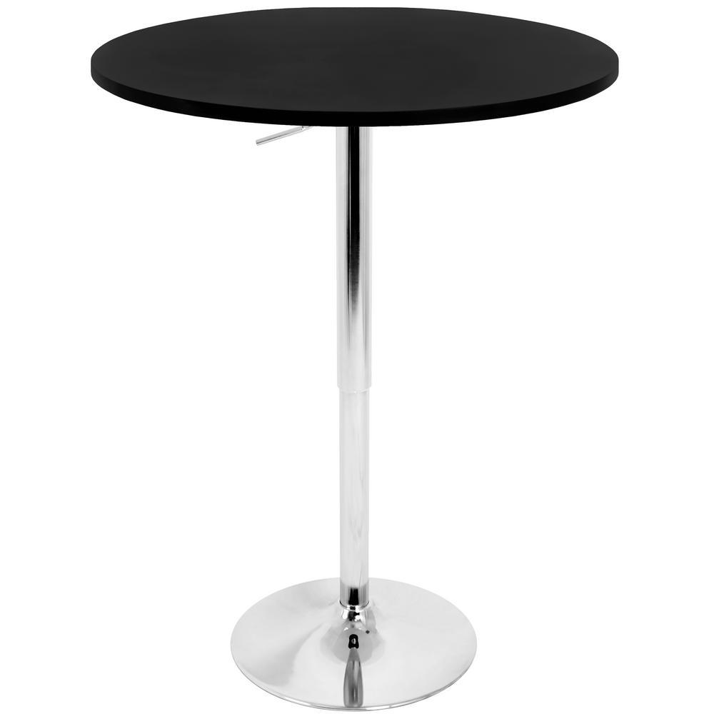 Elia Black and Chrome Adjustable Bar Table