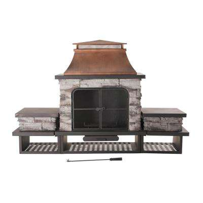 Bel Aire 51.97 in. Wood Burning Outdoor Fireplace