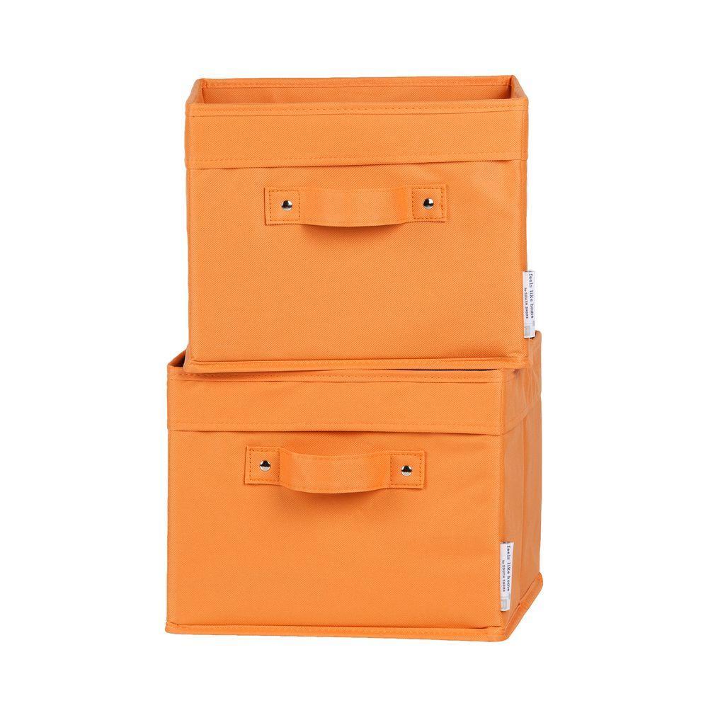 11 in. x 9 in. Storit Small Orange Polyester Basket (2-Pack)