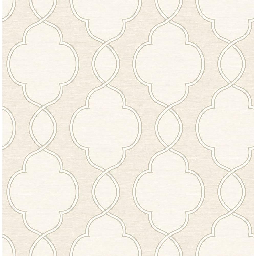 A-Street Structure Cream Chain Link Wallpaper Sample 2625-21822SAM