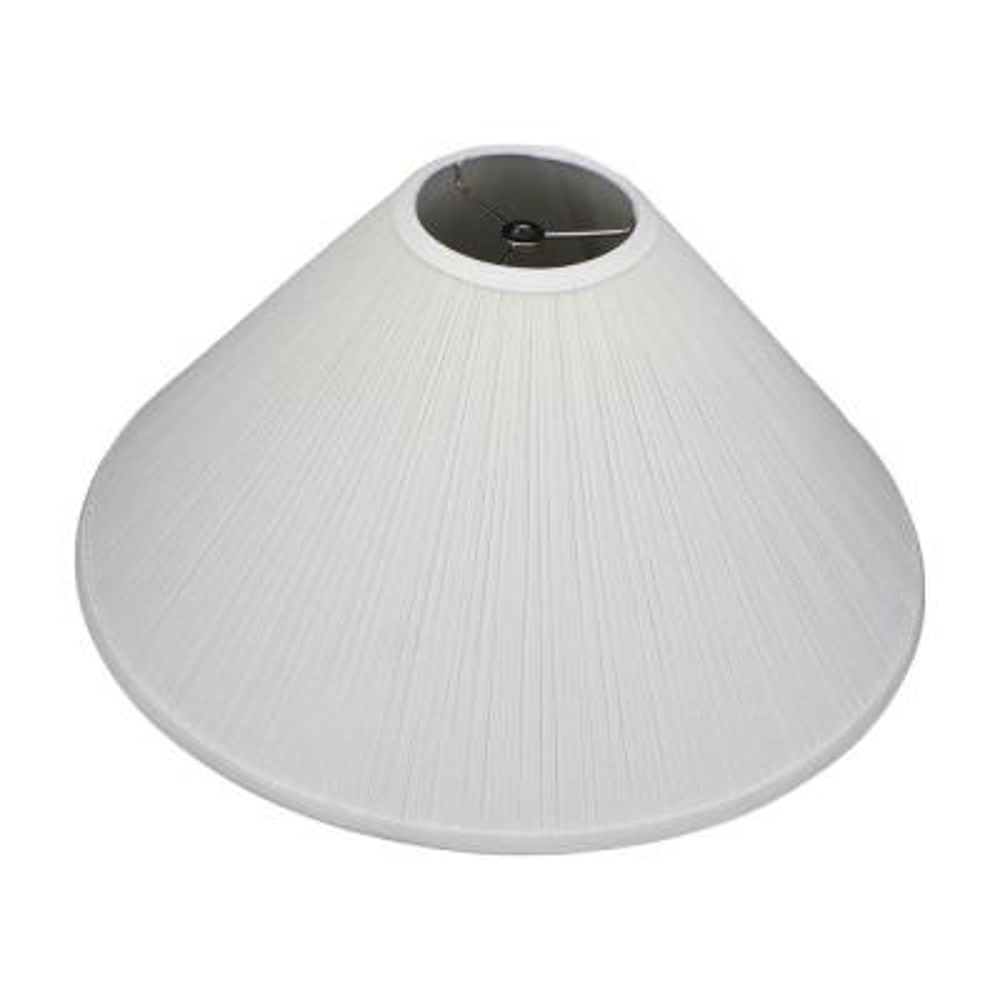 20 in. W x 9.5 in. H Cream/Nickel Pleated Mushroom Hardware Coolie Lamp Shade