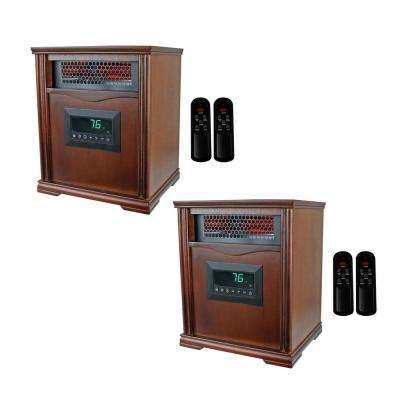 LifePro 4 Element 1500-Watt Electric Infrared Portable Heaters (Pair)