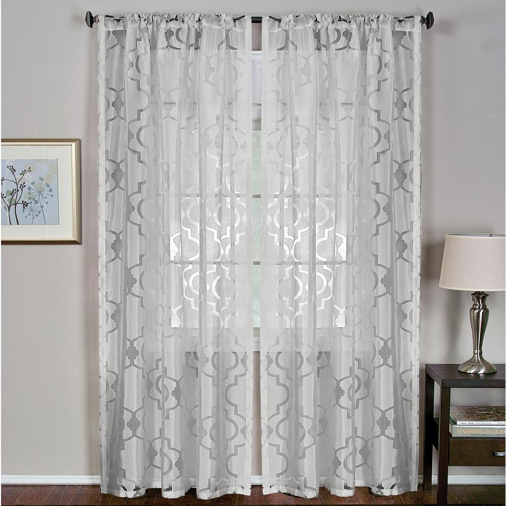 Montego 52 in. W x 84 in. L Ironwork Sheer Window