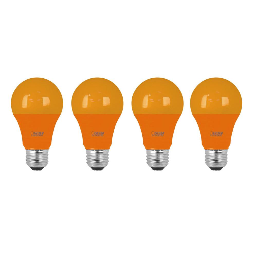 Feit Electric 40w Equivalent Soft White A19 Clear Filament: Feit Electric 40W Equivalent Orange-Colored A19 LED Light