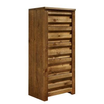 Progressive Furniture Melrose 5-Drawer Driftwood Lingerie Chest, Brown