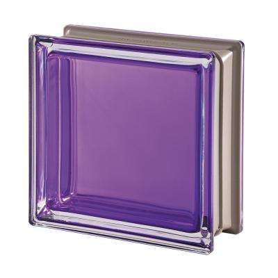 Mendini Q19 Ametista 7.48 in. x 7.48 in. x 3.15 in. Clear Pattern Glass Block (5-Pack)