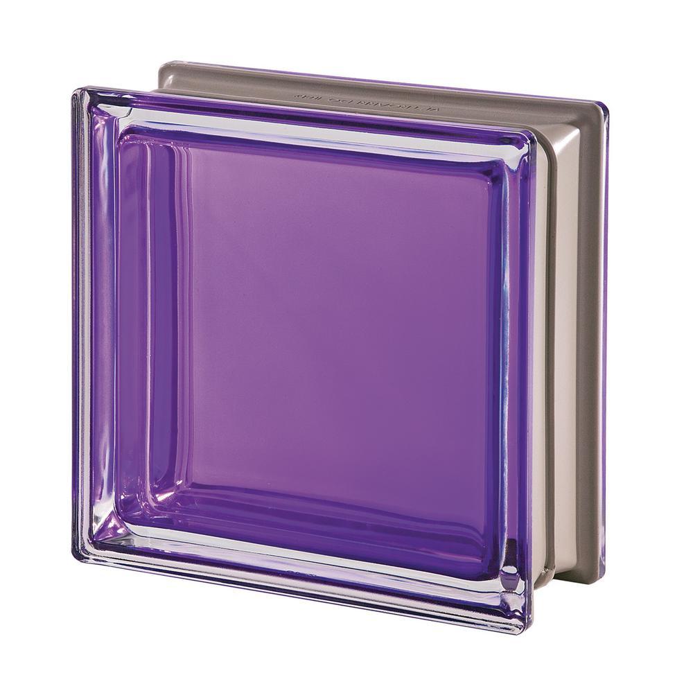 Mendini Q19 Ametista 7.48 in. x 7.48 in. x 3.15 in. Clear Pattern Glass Block (5-Pack)