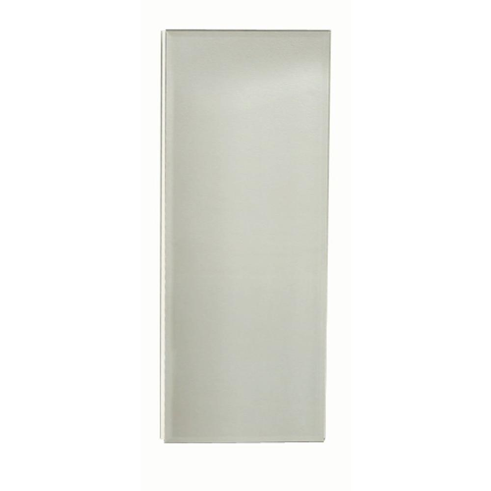 Zenna Home 14.25 in. x 36 in. Corner Over the Mirror Surface-Mount Medicine Cabinet in Beveled Frameless Mirror Glass