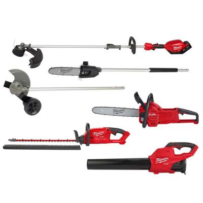 Milwaukee M18 FUEL 18-Volt Lithium-Ion Brushless Cordless QUIK-LOK String Trimmer Combo Kit w/ Blower and Chainsaw (6-Tool)