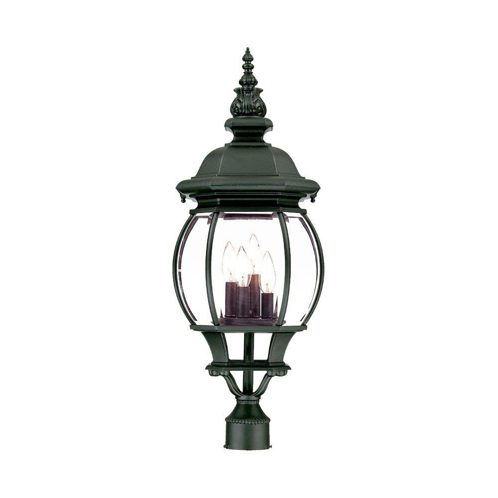 Acclaim lighting chateau 4 light matte black outdoor post mount acclaim lighting chateau 4 light matte black outdoor post mount light fixture aloadofball Image collections