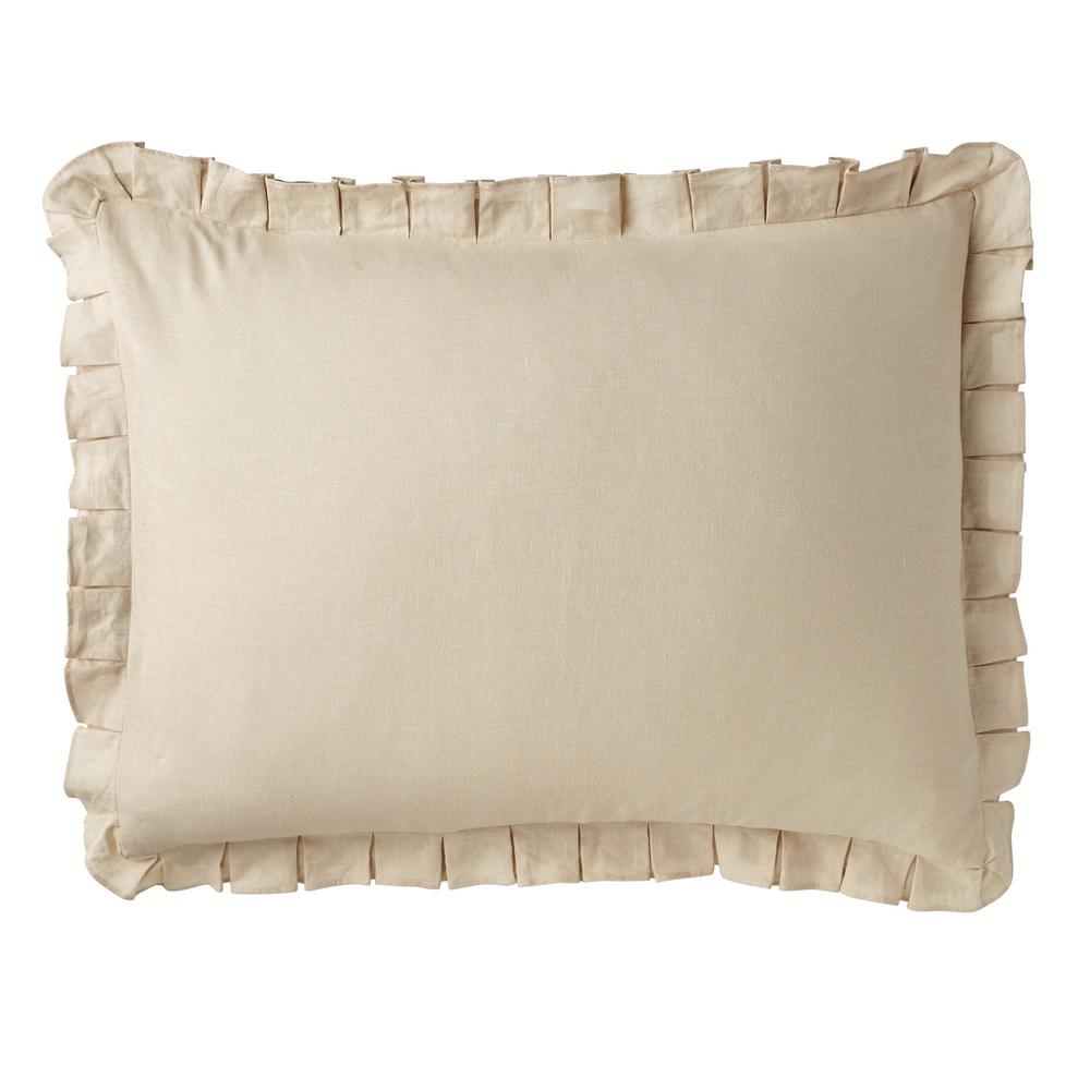 The Company Store Linen Cotton Solid Sand Standard Sham, Brown was $38.99 now $22.99 (41.0% off)