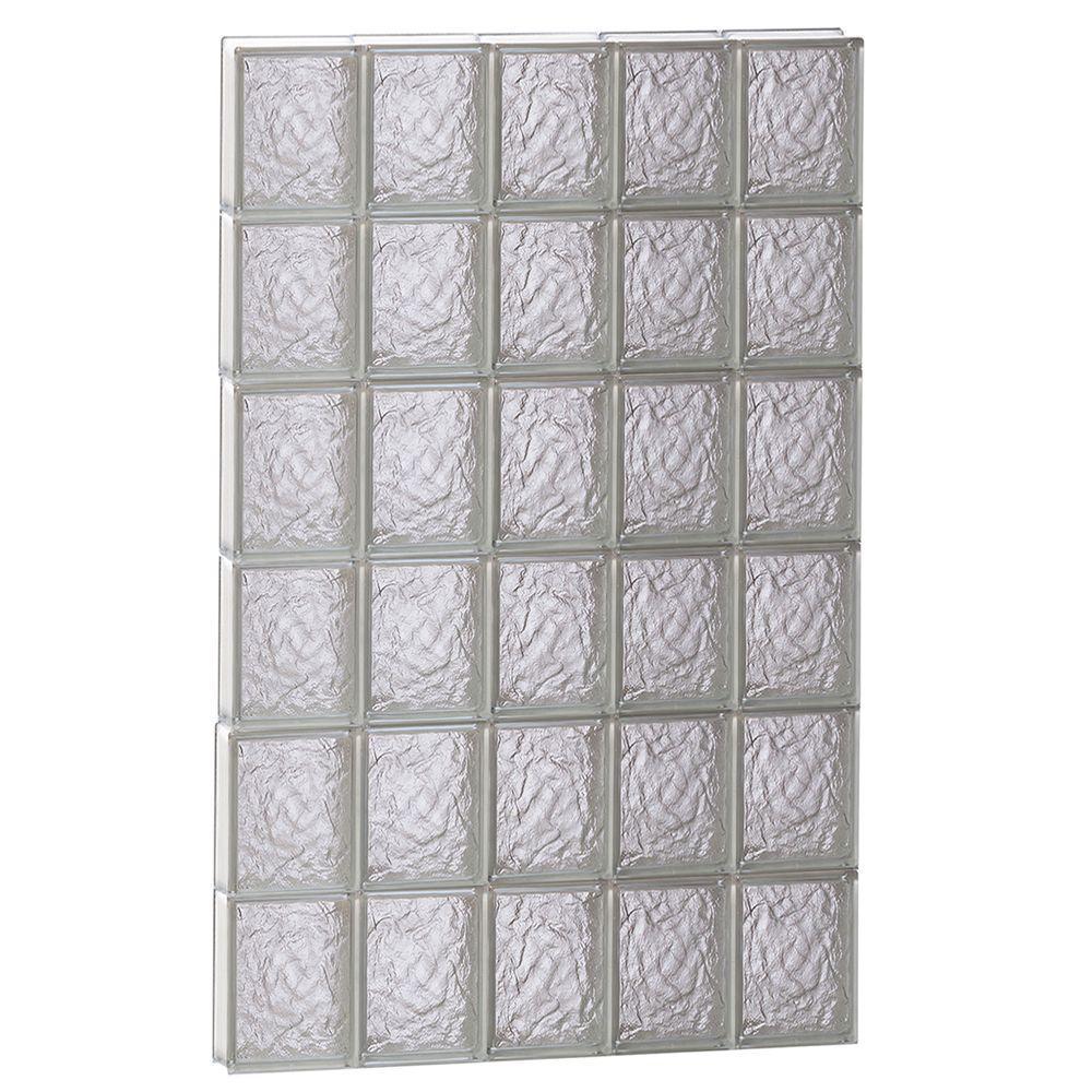 28.75 in. x 46.5 in. x 3.125 in. Frameless Ice Pattern