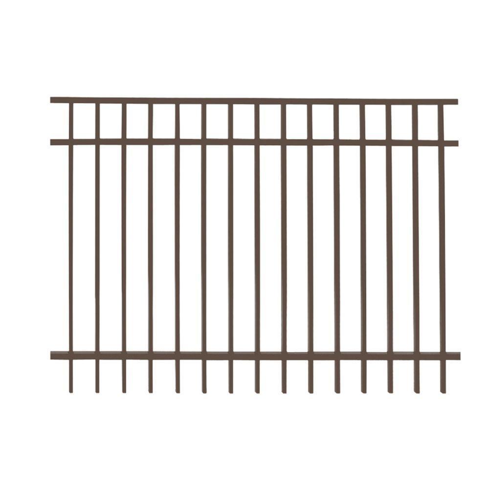 Vinings 5 ft. H x 6 ft. W Bronze Aluminum Pre-Assembled Fence Panel