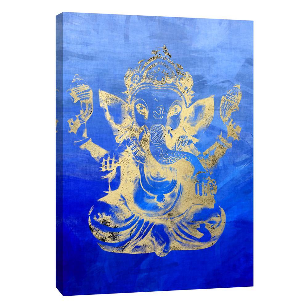 12 in. x 10 in. ''Ganesha'' Printed Canvas Wall Art
