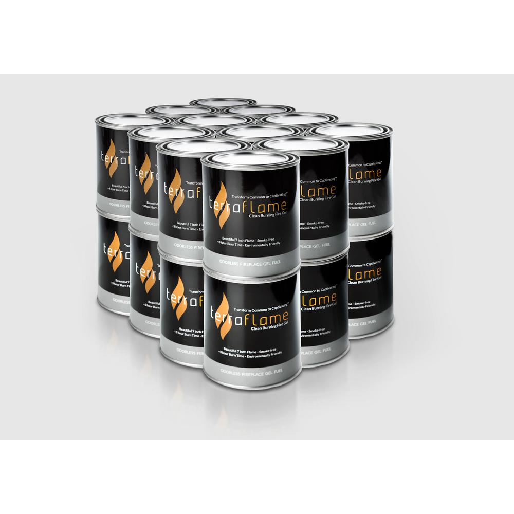 Terra Flame 8 In Pure Gel Fuel By Sunjel 24 Pack Sjpack24 The