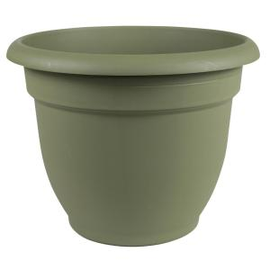 Ariana 12 in. Living Green Plastic Self-Watering Planter
