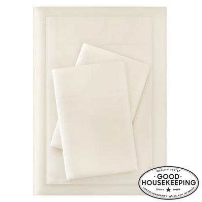 Brushed Soft Microfiber 3-Piece Twin Sheet Set in Ivory