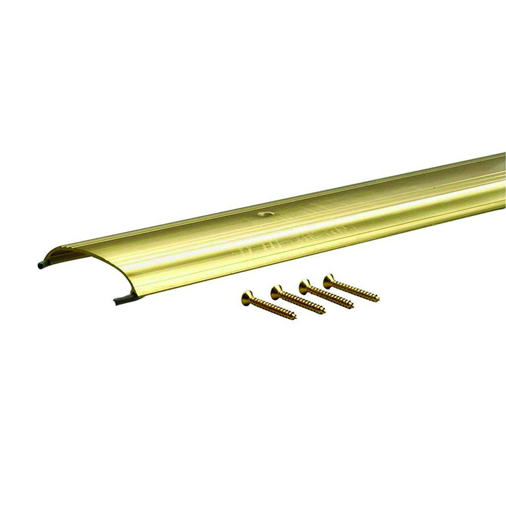 Low Dome Top 3-1/2 in. x 71-1/2 in. Gold Aluminum Threshold, Yellows/Golds