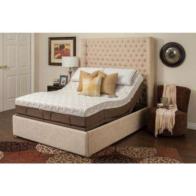 11 in. Dahlia Twin XL Memory Foam Mattress and Adjustable Base Set