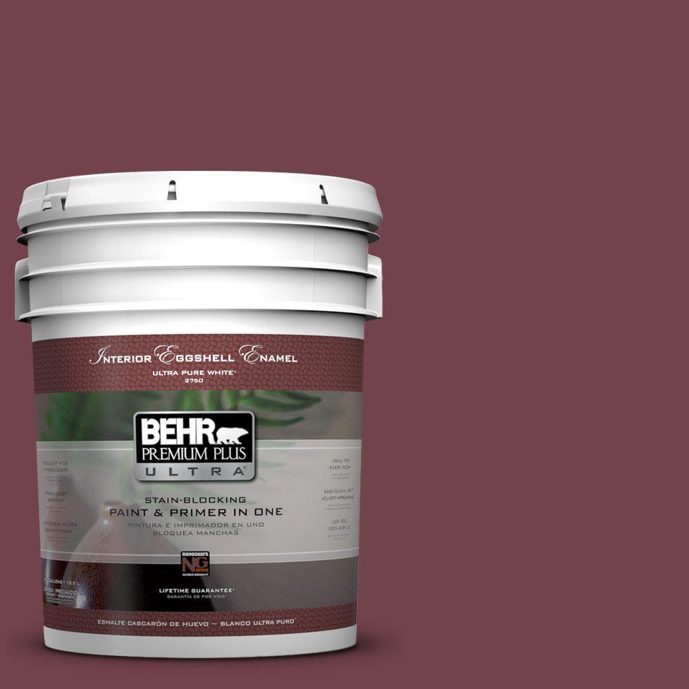 BEHR Premium Plus Ultra 5-gal. #PPF-50 Fired Brick Eggshell Enamel Interior Paint