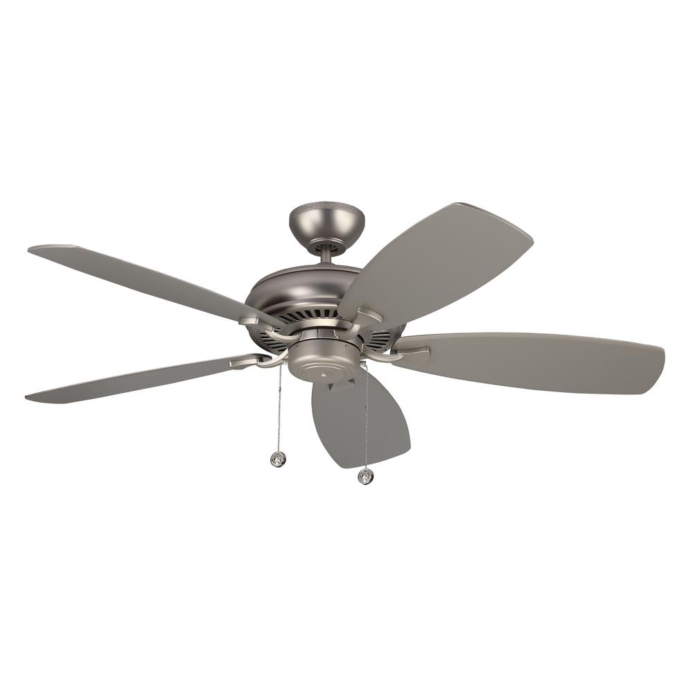 Monte Carlo Light Cast Max 52 In Indoor Brushed Pewter Ceiling Fan