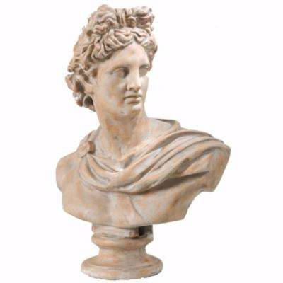 Antiquely Composed Brown Placidia Bust Statue