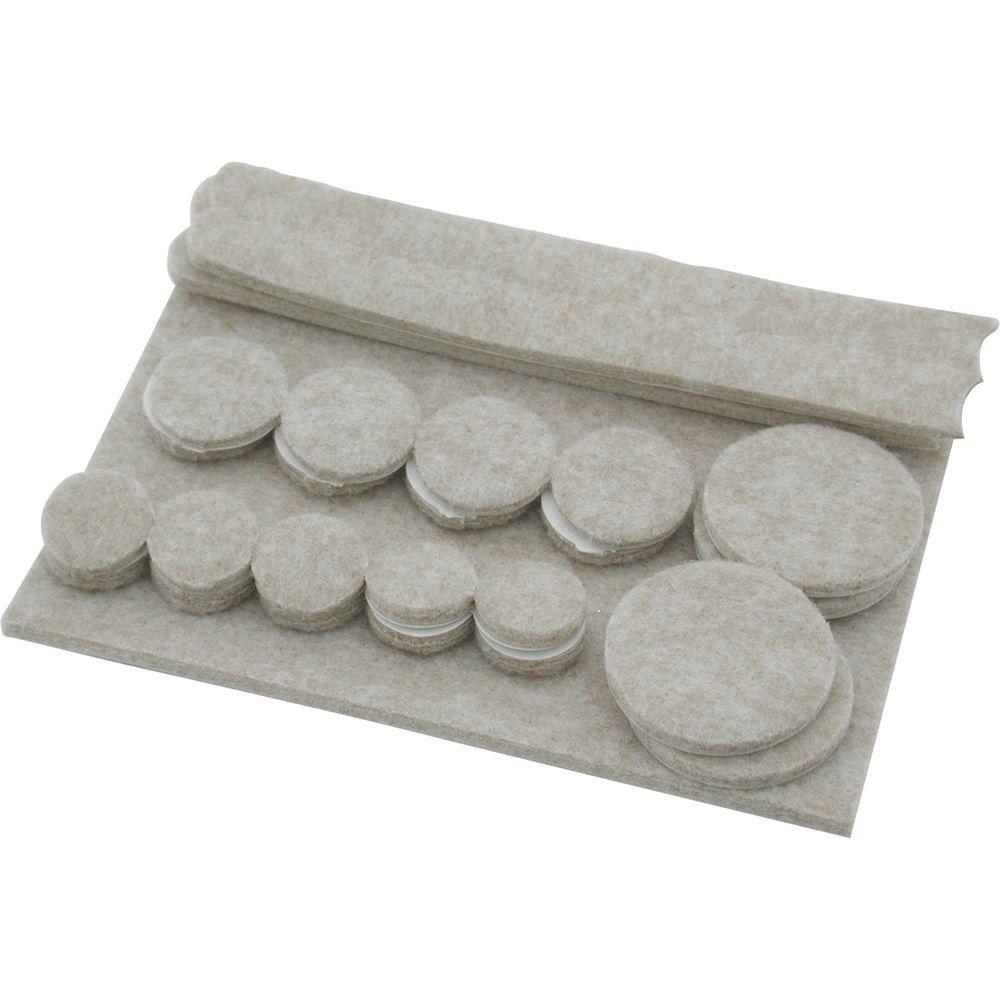 Shepherd Assorted Heavy Duty Self-Adhesive Felt Pads (27 per Pack)