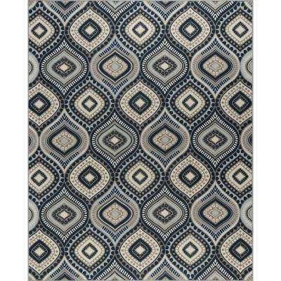 Majesty Navy 7 ft. 10 in. x 9 ft. 10 in. Area Rug