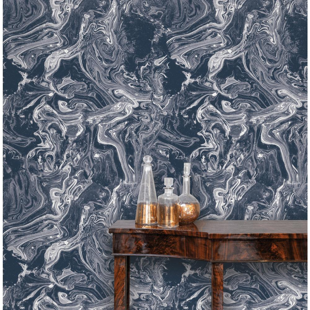 Tempaper Tokyo Celestial Blue Self-Adhesive Removable