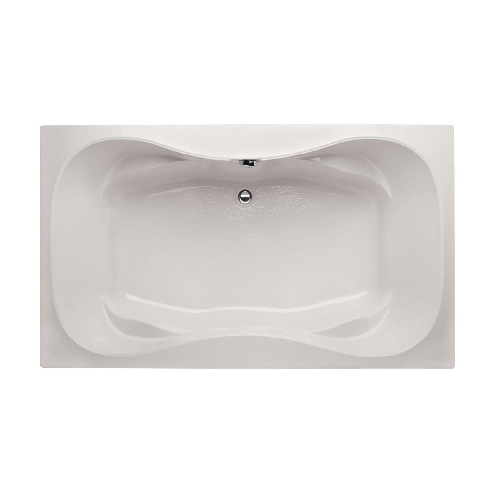Hydro Systems Studio Hourglass 6 Ft. Rectangular Drop In Center Drain  Bathtub In White