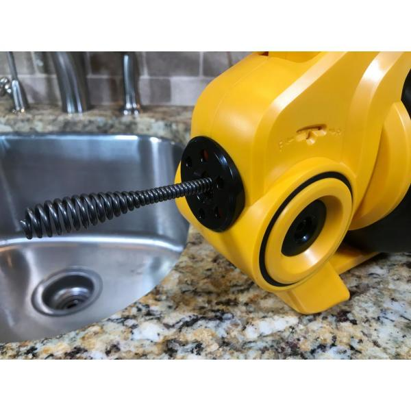 Xtremepowerus 25/' Ft Handheld Portable Drain Auger Corded Operated Snake Sink Cl
