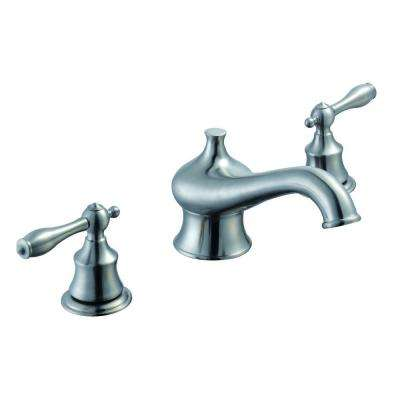 Estates 2-Handle Deck-Mount Roman Tub Faucet in Brushed Nickel
