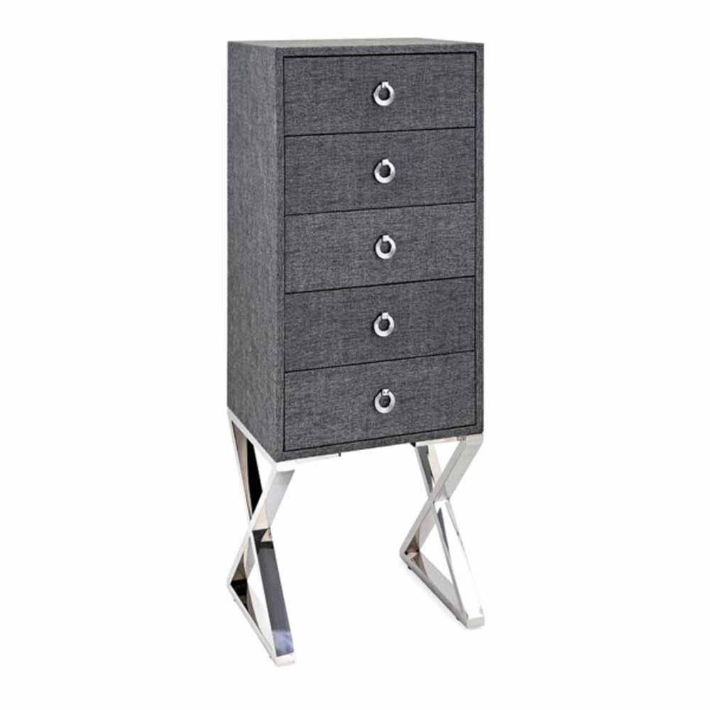 Gray Zelda 5-Drawer Cabinet