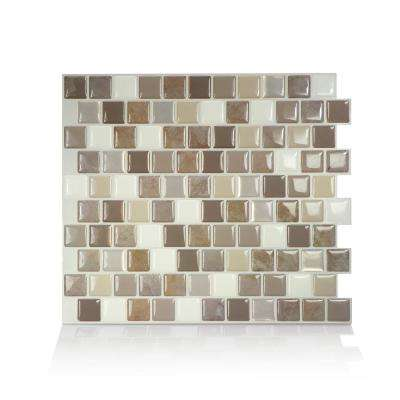 Brixia Pardo 10.20 in. W x 8.85 in. H Peel and Stick Self-Adhesive Decorative Mosaic Wall Tile Backsplash (4-Pack)
