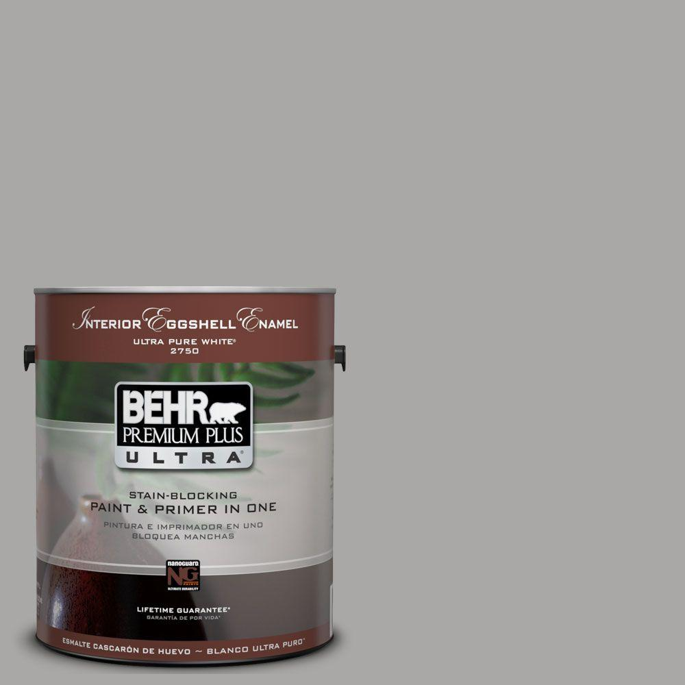 1 gal. #UL260-7 Cathedral Gray Eggshell Enamel Interior Paint and Primer