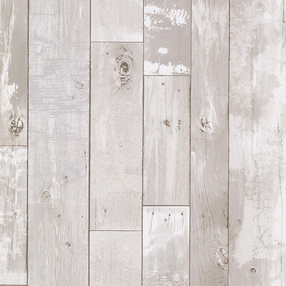 Brewster Ashwile Cream Wood Wallpaper 2686-20131