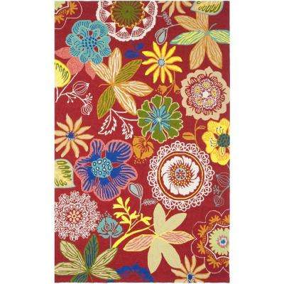 Four Seasons Red/Multi 8 ft. x 10 ft. Indoor/Outdoor Area Rug
