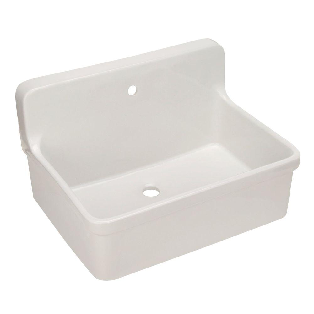 KOHLER Gilford 22 in. Vitreous China Laundry Sink in White