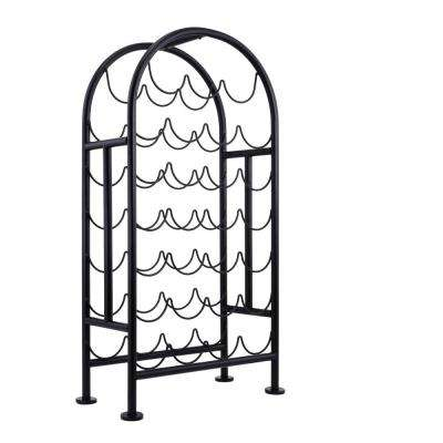 27-Bottle Matte Black Wine Rack