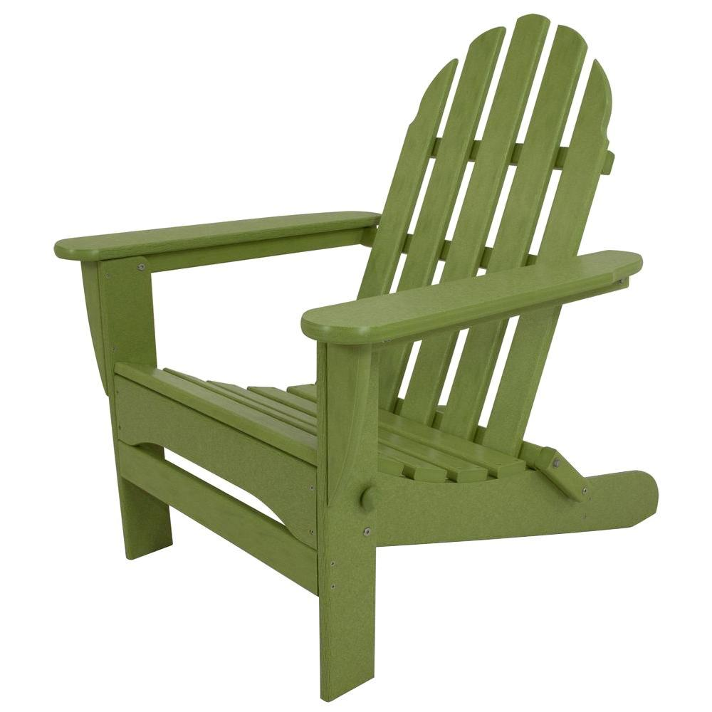 Classic Lime Plastic Patio Adirondack Chair