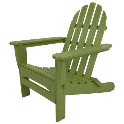 Exceptional Classic Lime Plastic Patio Adirondack Chair