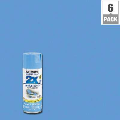 12 oz. Gloss Spa Blue General Purpose Spray Paint (6-Pack)