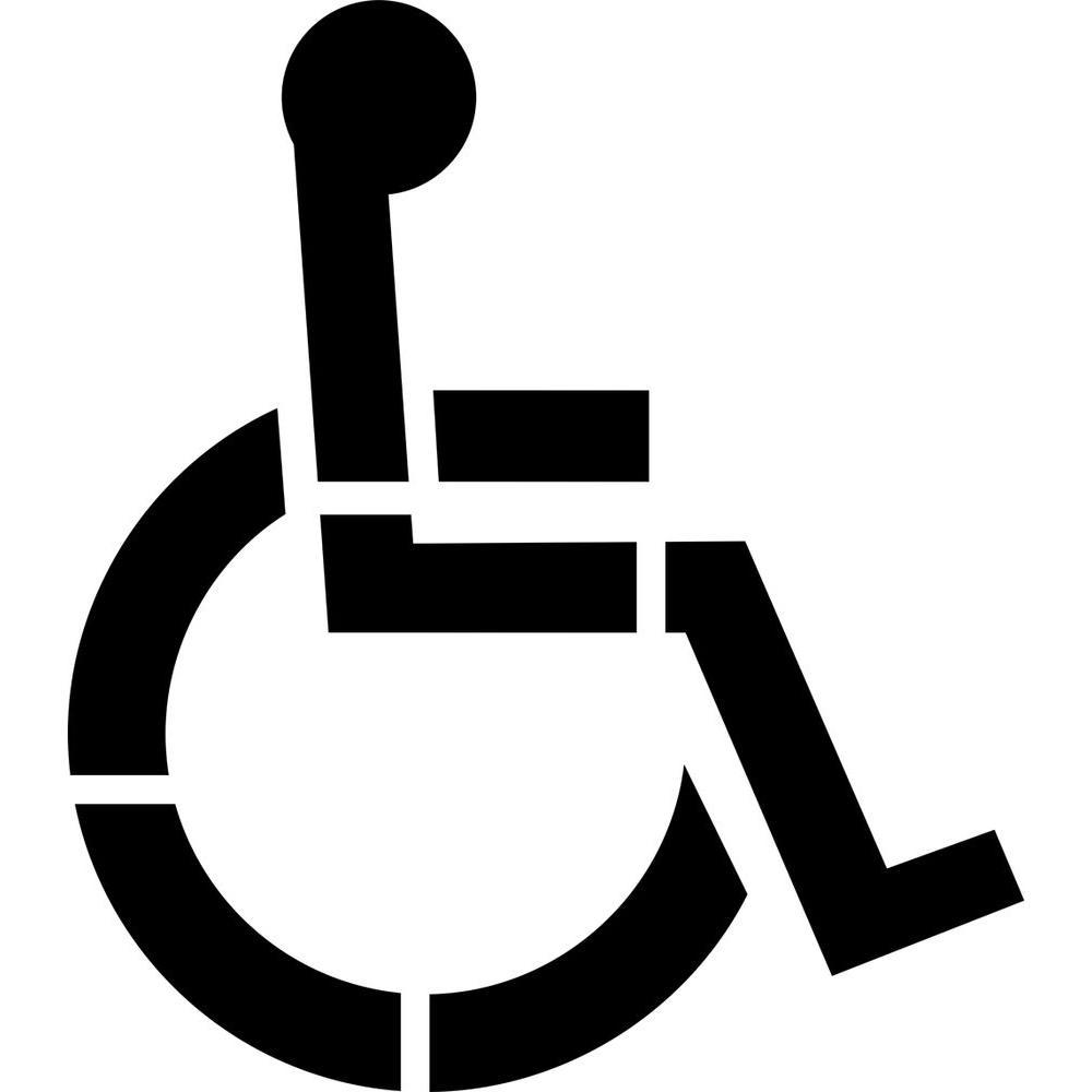 Stencil Ease 22 in. One Part Handicap Stencil