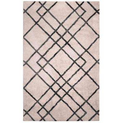 Diamond Dogs Ivory and Gray 5 ft. x 7 ft. Area Rug