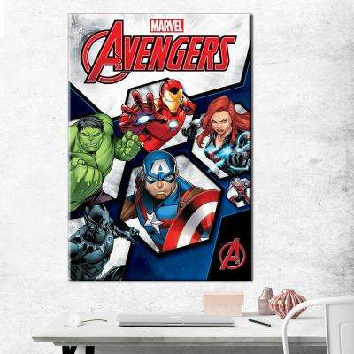 24 in. x 36 in. Avengers - Earth's Greatest - Gallery Wrapped Canvas Wall Art