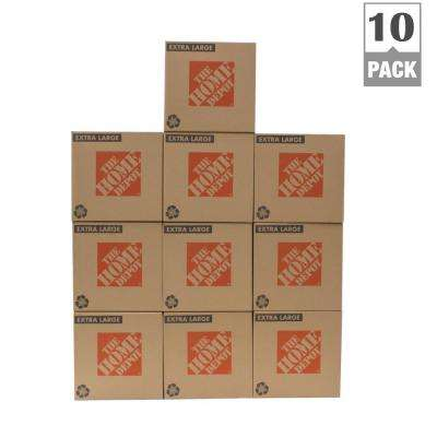 22 in. L x 22 in. W x 21 in. D Extra-Large Moving Box (10-Pack)