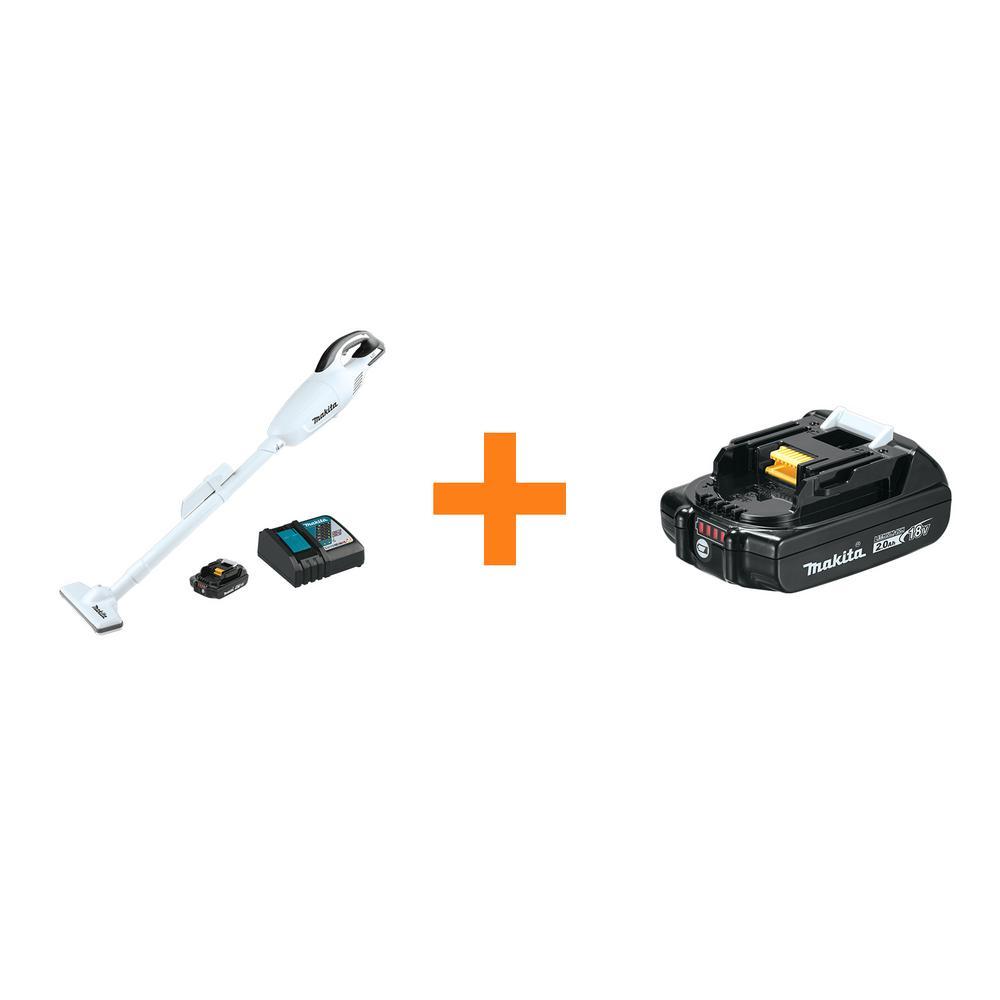 18-Volt LXT Lithium-Ion Compact Handheld Cordless Vacuum Kit, 2.0Ah with bonus 18-Volt LXT Compact 2.0Ah Battery