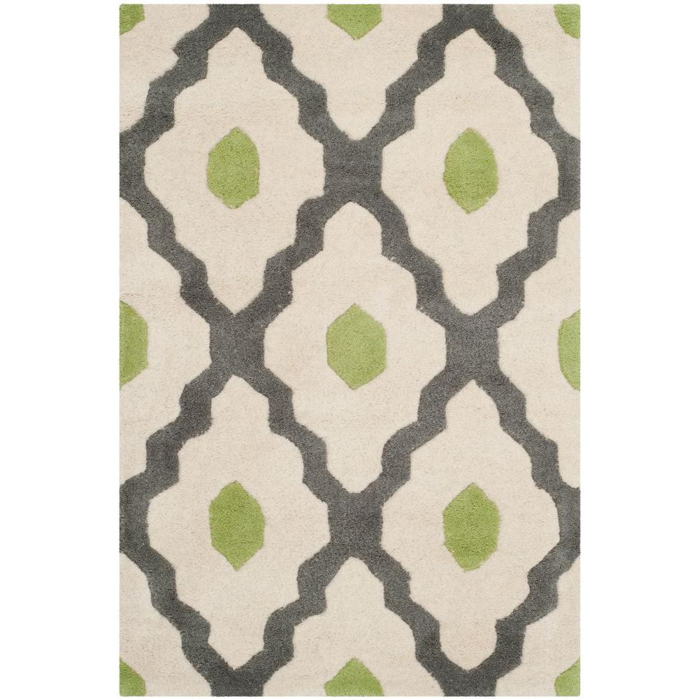 Chatham Ivory/Dark Grey 2 ft. x 3 ft. Area Rug