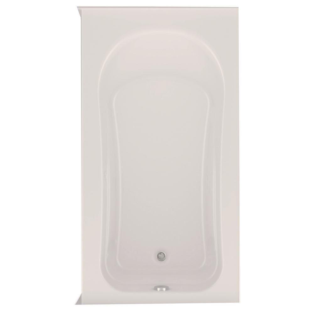 Aquatic Dossi 32 5 ft. Right Drain Acrylic Soaking Tub in Biscuit